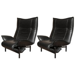 Pair of Italian Cassina Veranda Lounge Chairs