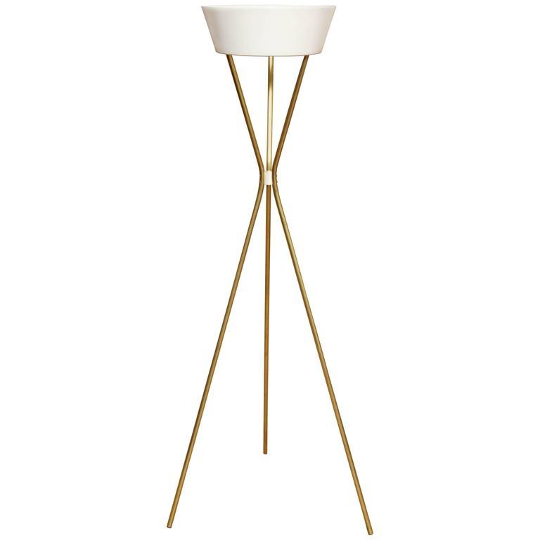 1950s Gerald Thurston Torchère Floor Lamp