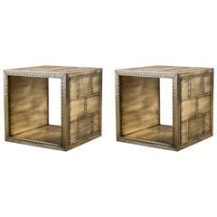 Gold Rivet Side Tables