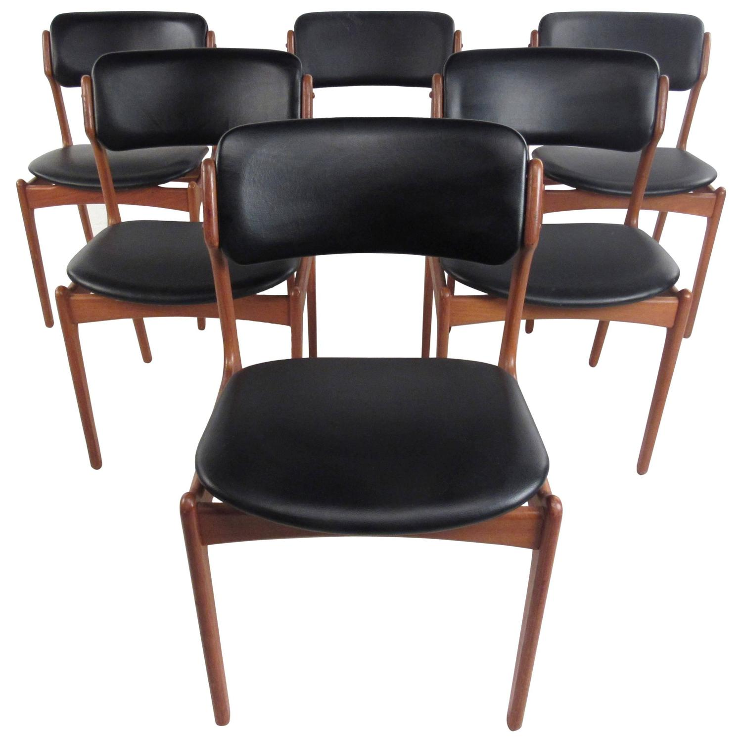 Vintage Mid Century Dining Rooms: Set Of Mid-Century Eric Buck Dining Chairs, Vintage Danish