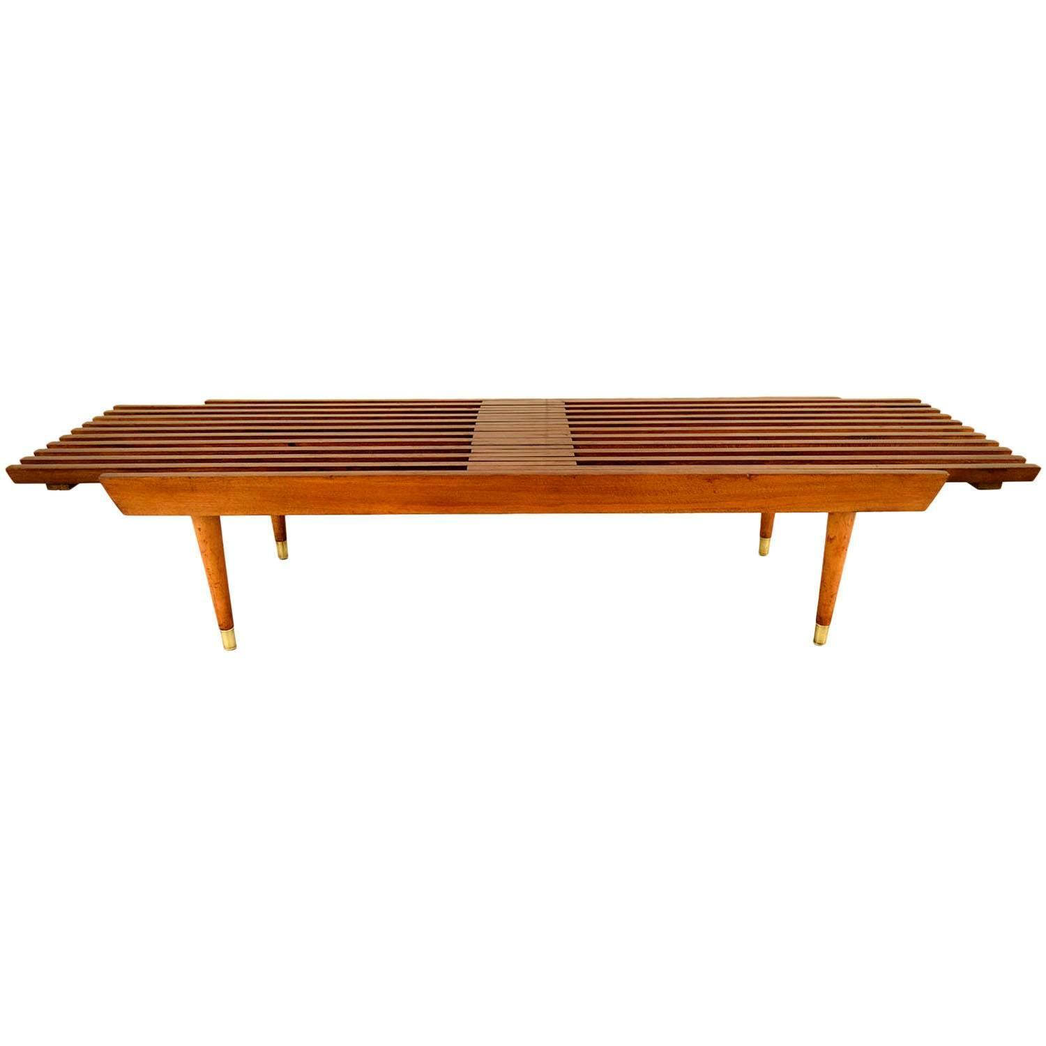 Mid Century Danish Modern Slatted Bench For Sale At 1stdibs
