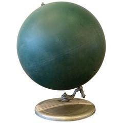 Unusual 1940s Composite and Zinc Tabletop Chalk Globe