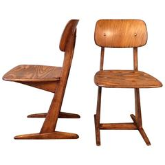 Pair of Mid-Century Modern Cantilever Children's Chairs By Casala