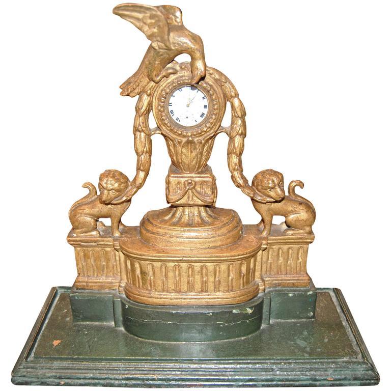 19th Century Giltwood Watch Holder