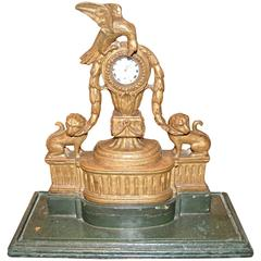 19th Century Giltwood Watch Holder