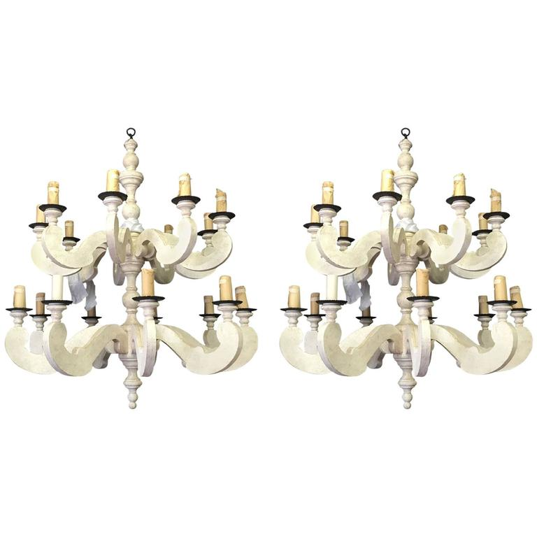 Pair of Paul Ferrante Country Chandeliers For Sale