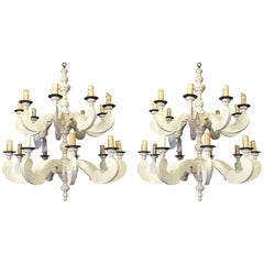 Pair of Paul Ferrante Country Chandeliers