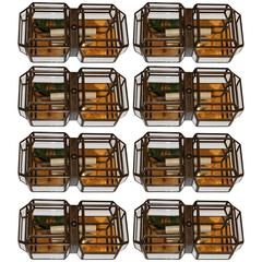 Set of Eight Flush Mounted Light Fixtures, Sold Individually