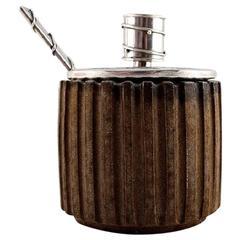 Arne Bang & Frantz Hingelberg, Small Stoneware Mustard/Jam Pot, Mid-20th Century