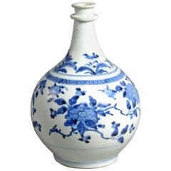Early 17th Century Porcelain Apothecary's Blue & White Bottle Jar