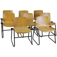 J Hayward Kinetics Modernist-Style Bent Plywood Chairs