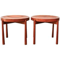 Solid Teak Side Tables in the style of Jens Quistgaard for Dux