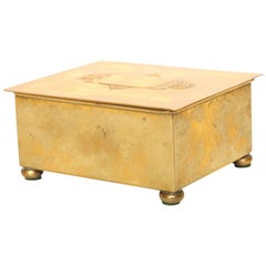 Mid-Century Modern WMF Hand-Hammered Brass Box