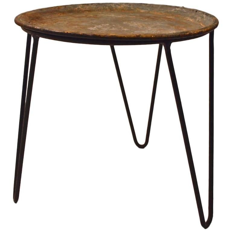Round Wrought Iron and Zinc Plant Stand Tray Table with  : 4875703l from www.1stdibs.com size 768 x 768 jpeg 30kB