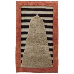 Contemporary Rectangular #4 Tapestry in Naturally-dyed, Hand-Spun Wool