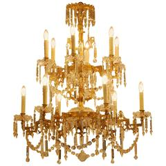 19th Century Napoleon III Gas Chandelier from the North of France, 1880