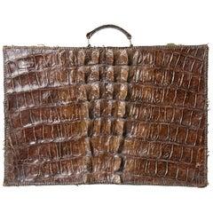 Crocodile Rare Old Suitcase
