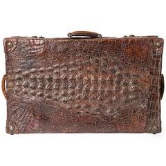 Crocodile Old Rare Suitcase