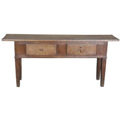 Narrow 19th Century Primitive Rustic Console Table