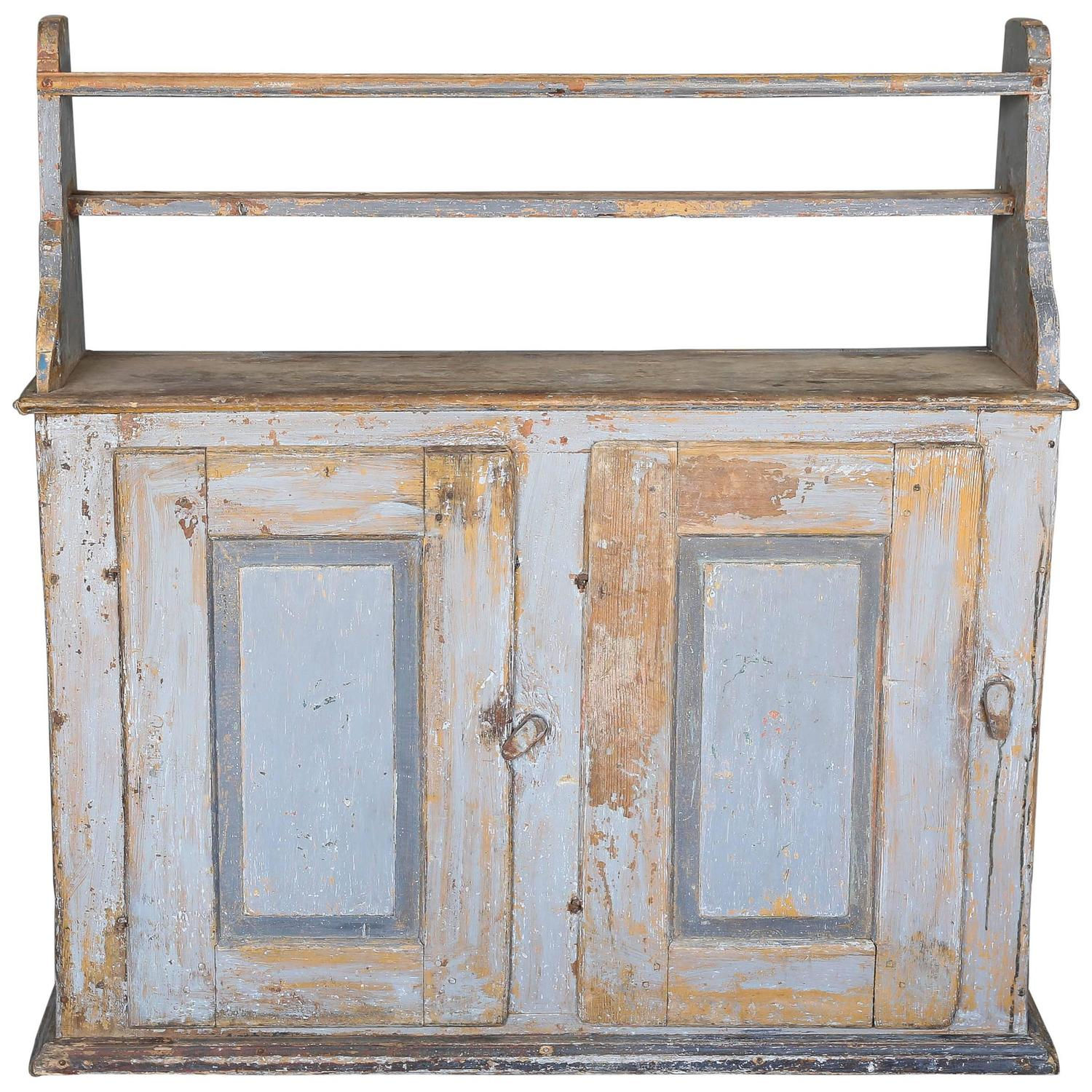 Antique Primitive 18th Century Narrow Swedish Buffet Cabinet with Shelf For  Sale at 1stdibs - Antique Primitive 18th Century Narrow Swedish Buffet Cabinet With