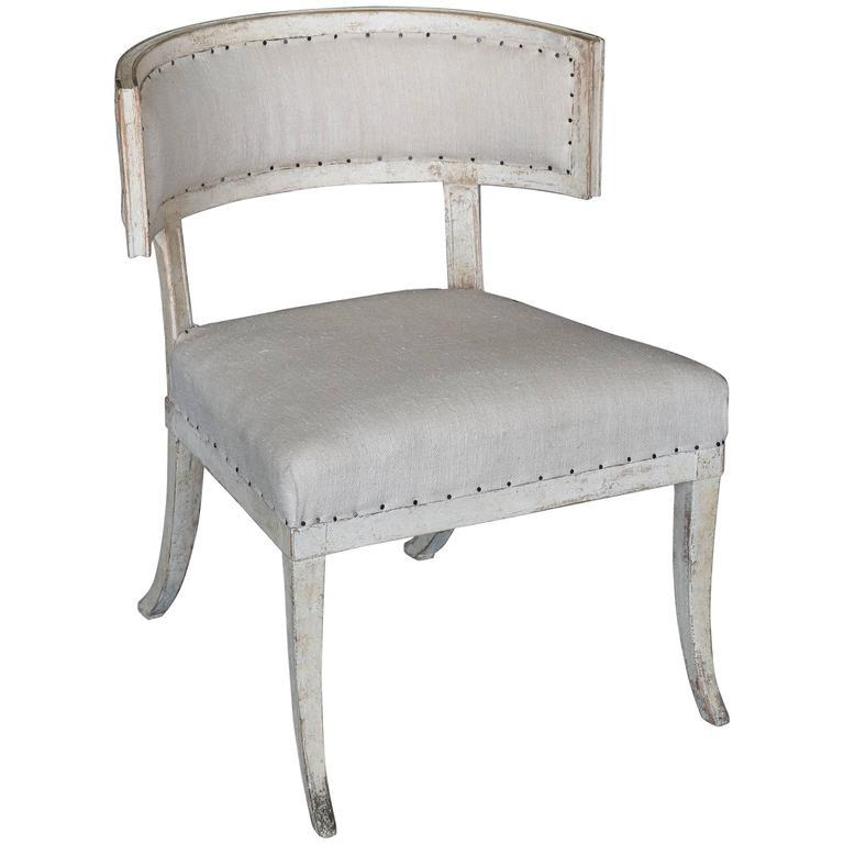 Antique 18th Century Gustavian Klismos Chair For