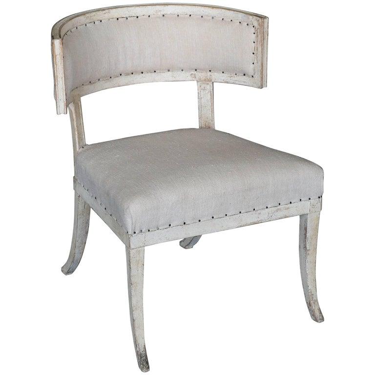 Antique 18th Century Large Gustavian Klismos Chair For Sale