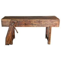 Antique 19th Century French Workbench