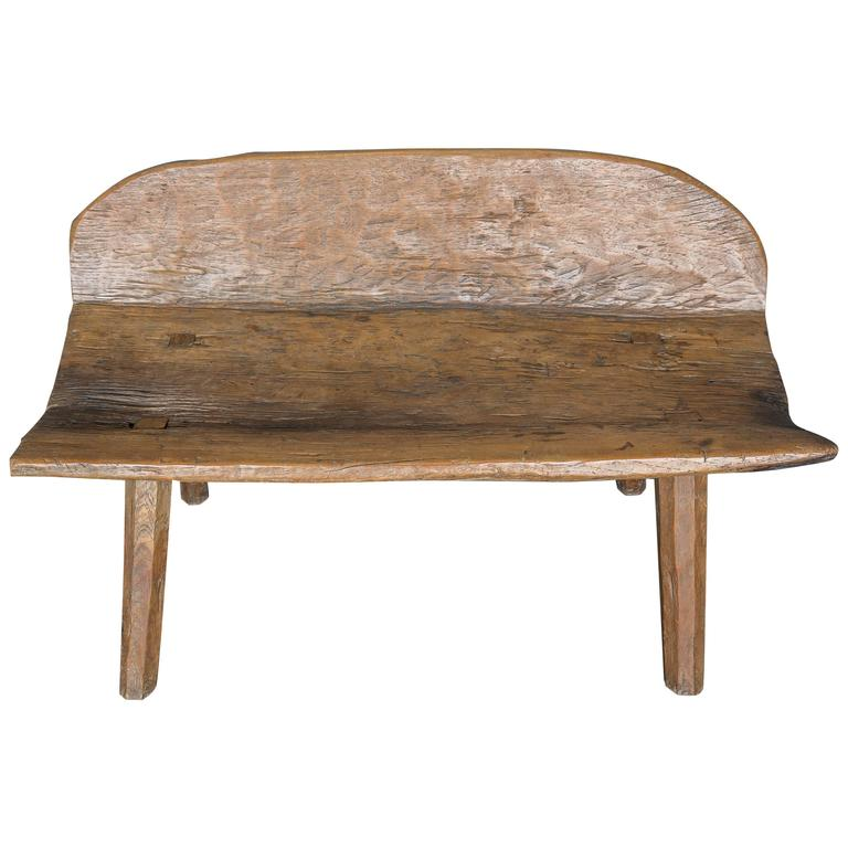 Antique 18th Century Primitive Bench From Spanish Pyrenees At 1stdibs