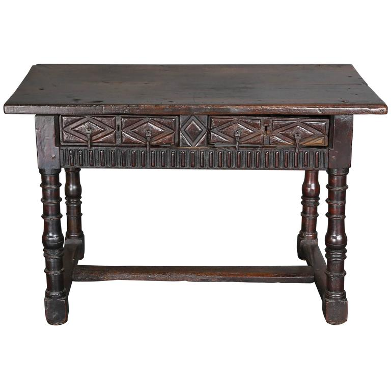 Antique 18th Century Spanish Console Table 1