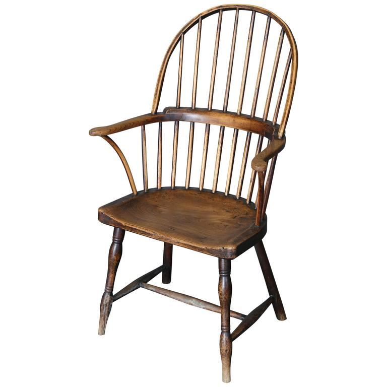 Antique 18th Century Ash And Elm Windsor Chair For Sale At