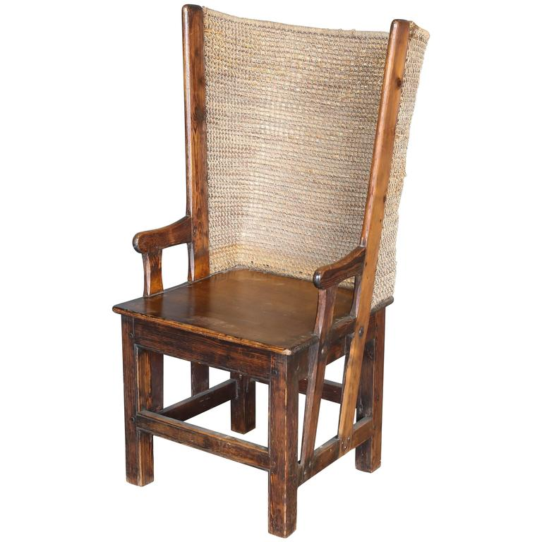 Antique 19th Century Child's Orkney Chair For Sale - Antique 19th Century Child's Orkney Chair For Sale At 1stdibs