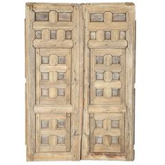 Pair of 18th Century Spanish Pine Shutters with Original Hardware
