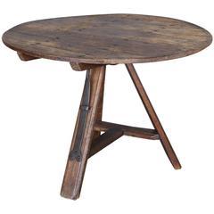 Antique 19th Century Round Dutch Tripod Table