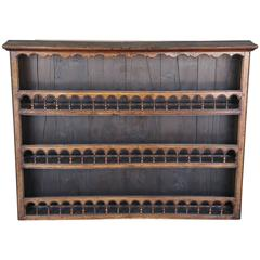 Antique 18th Century Walnut Plate Rack