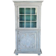 Antique Narrow 18th Century Painted Louis XV Cabinet