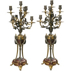 Pair of French Candelabra