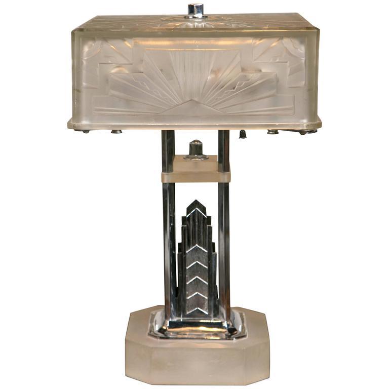 Period Art Deco Skyscraper Lamp