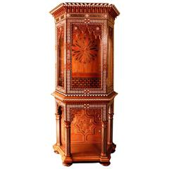 Sumptuous Ottoman Antique Walnut Cabinet