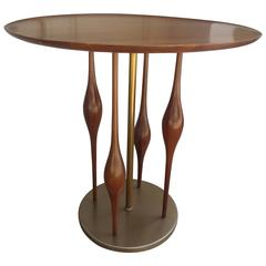 Walnut Side Table in the Style of Adrian Pearsall