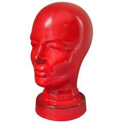 Midcentury German Ceramic Head Sculpture from Ruscha, 1960