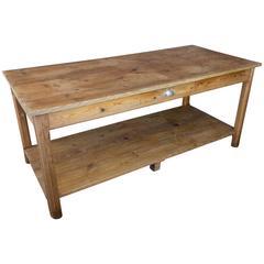 French Early 20th Century Oak Farm Table