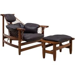 'Jangada' Armchair and Footstool by Jean Gillon