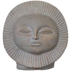 Paul Bellardo Sunburst Face Sculpture