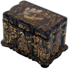 1850s Lacquered Tea Caddy