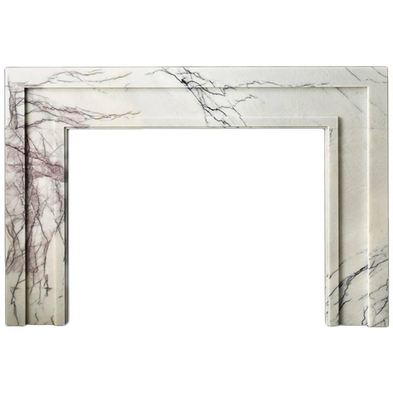 Lilac marble mantel, new