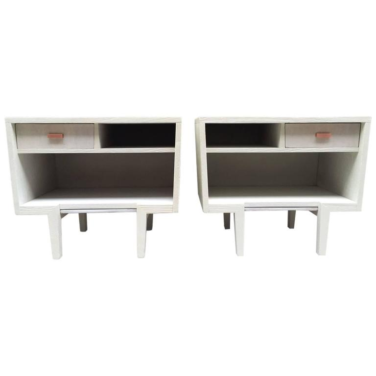 Pair of Italian Painted Nightstands Style of Gio Ponti