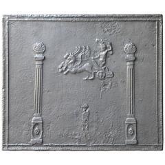 19th Century Pillars with Decoration Fireback