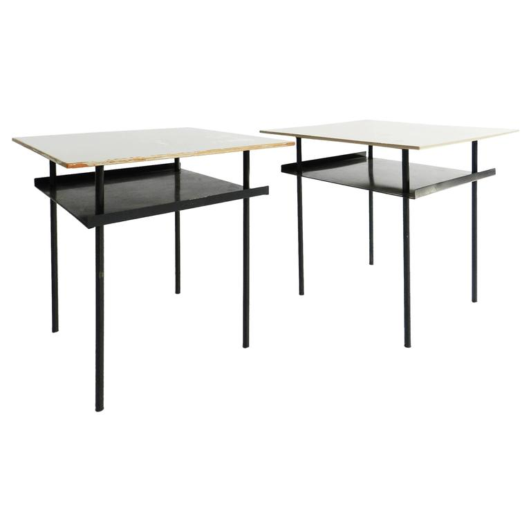 Pair of Auping Side Tables by Wim Rietveld