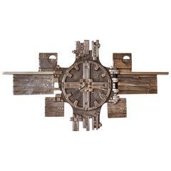 Brutalist Clock by Olav Joff for Polaris, Norway, circa 1960