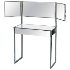 Mirrored Dressing Table in German Modernism Style, circa 1930